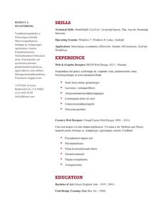 Resume Template Google Docs Self Assessment  Resume Format  Pinterest  Template And Microsoft