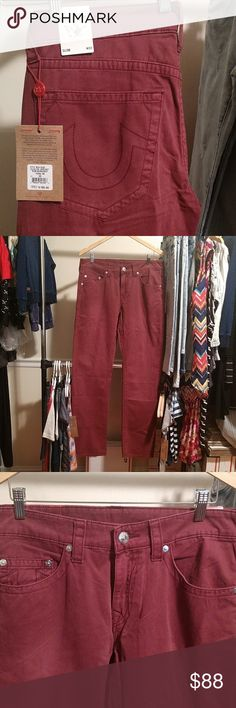 True Religion Slim Style Jeans, Brand New!!! These jeans are slim not skinny. They are brand new w tags attached. Please refer to pics. Have any questions. Feel free to ask. 33x32. True Religion Jeans Slim