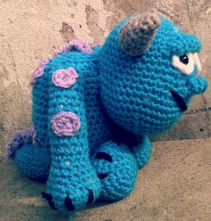 sulley amigurumi! - would be a cute hat also.