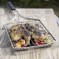 Flexible Grill Basket | Crate and Barrel #setthetable