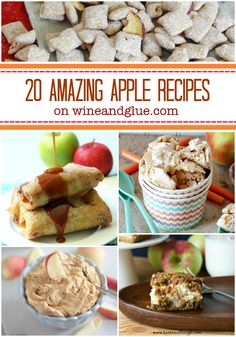 20 Apple Recipes for Fall!  Some of the best apple recipes on the web that will have you drooling and ready for fall! via www.wineandglue.co...