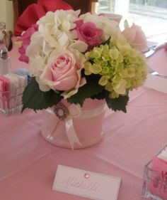 light pink baby shower - Google Search