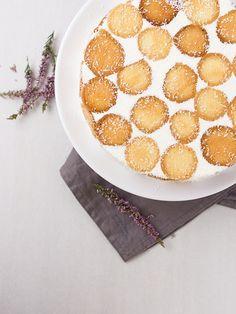 Smetanovo-tvarohový dort s dětskými piškoty