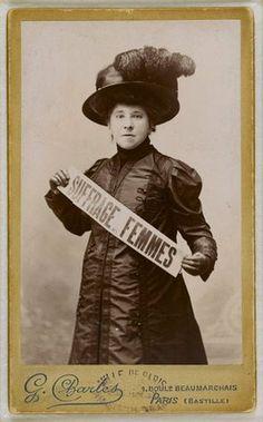 Hubertine Auclert (1848-1914). Féministe française, elle a milité en faveur du droit de vote des femmes.
