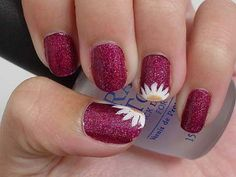 Pix For > Maroon Acrylic Nails