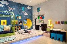 Decorating kids bedroom is fun! Brightening children's room is fun and energizing for architects and inside decorators. Cool Bedrooms For Boys, Boys Bedroom Decor, Baby Bedroom, Baby Boy Rooms, Baby Room Decor, Cool Rooms, Bedroom Ideas, Kids Room Design, Kid Spaces