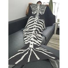 SHARE & Get it FREE | Fish Skeleton Wrap Sofa Men Halloween Mermaid BlanketFor Fashion Lovers only:80,000+ Items·FREE SHIPPING Join Dresslily: Get YOUR $50 NOW!