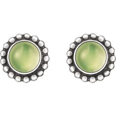 Georg Jensen Moonlight Blossom Earrings - Sterling Silver With Peridot ($325) ❤ liked on Polyvore