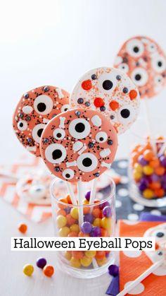 Candy Eyeballs, Halloween Eyeballs, Halloween Sweets, Halloween Baking, Halloween Appetizers, Halloween Cookies, Diy Halloween Decorations, Halloween Candy, Holidays Halloween