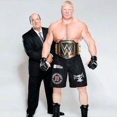 WWE World Champion Brock Lesnar and Paul Heyman Wrestling Superstars, Wrestling Wwe, Wwe Brock, Kane Wwe, Wwe 2, Paul Heyman, Dolph Ziggler, Wwe World, Wwe Champions