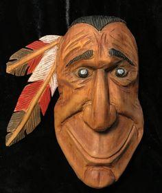 Wood Carving Native American Indian Sculpture Wood Spirit
