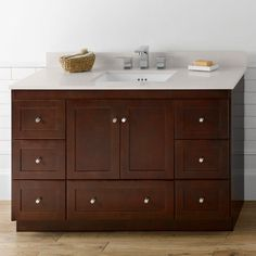 ronbow shaker 48 in single bathroom vanity ron770 - Ronbow Vanities