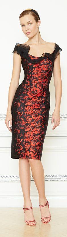 Carolina Herrera Resort 2014~~Like the design of the dress. Not sure if I like the color.
