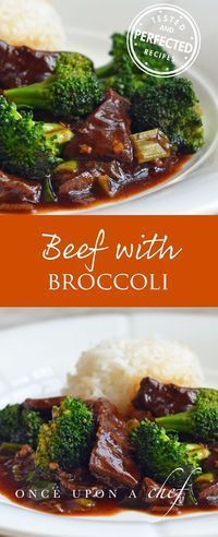 Craving Chinese food but don�t want to go out? Try this Beef with Broccoli: tender strips of steak and crisp broccoli florets in a rich brown ginger and garlic sauce. You don�t need a wok � just a large skillet � and the ingredients are all easy to find a