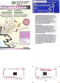 ESL Learn SPANISH / ENGLISH Language VOCABULARY Tapes +