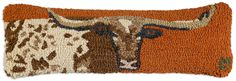 "Chandler 4 Corners - Longhorn  8""x24"" Hooked Pillow, $45.00 (http://www.chandler4corners.com/longhorn-8x24-hooked-pillow/)"