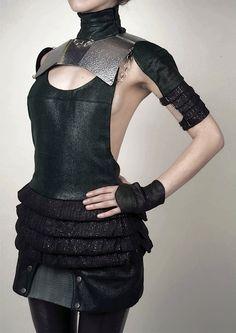 Ana Rajcevic, futuristic fashion, black clothing, futuristic style