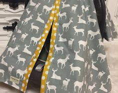 CAR SEAT COVER / car seat canopy / nursing cover by CoveredNLove1