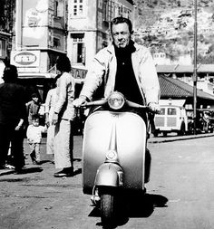 Is there a cooler two-wheeled ride than a Vespa? Clearly, we're just like celebrities, because the bold and the beautiful agree. Piaggio Scooter, Moto Scooter, Vespa Lambretta, Scooter Girl, Gina Lollobrigida, Louise Brooks, Kirk Douglas, Anthony Perkins, Triumph Motorcycles