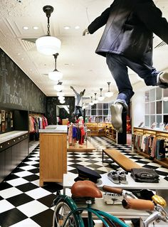 Amenajare magazin de haine pentru copii-idei,poze,renovare (1) Visual Merchandising, Clothing Store Interior, Wonderwall, Design Furniture, Seoul, Retail, Jr, Cool Stuff