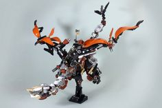 Three of our favourite things: LEGO Steampunk dragon Lego Mechs, Lego Bionicle, Steampunk Lego, Lego Dragon, Lego Machines, Lego Sculptures, Cool Lego, Awesome Lego, Lego Animals