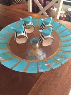 Set If Ceramic Blue Bird Napkin Rings& Mackenzie Child's Ribbon 1 Yard | eBay