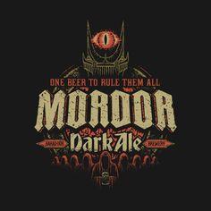 Cerveza negra de Mordor. Diseño de Cory Freeman | El Anillo Único