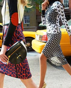Mix Print street style #fashion
