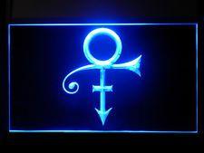 P134B Prince Symbol Bar Pub Sport Game Champion Star Light Sign