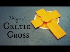 Video showing how to make an origami Celtic cross