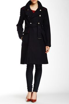 Wool Blend Mid Coat by Vince Camuto on @nordstrom_rack