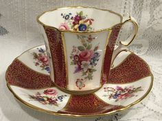 Vintage Hammersley & Co Bone China Cup and Saucer  by CupsAndRoses