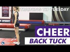 Pushing Through the Toes for Back Tuck The standing tuck takeoff is the most crucial part of the entire skill. Having the athlete stand on the edge of the re. Back Tuck, Training Tips, Gymnastics, Athlete, Cheer, Champion, Youtube, Fitness, Physical Exercise