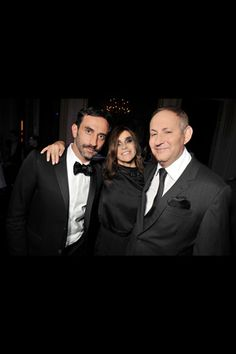 Riccardo Tisci_Givenchy's creative director, Carine Roitfeld_Former EIC of Vogue FR, current EIC of CR and John Demsey_Group president of Estee Lauder Companies