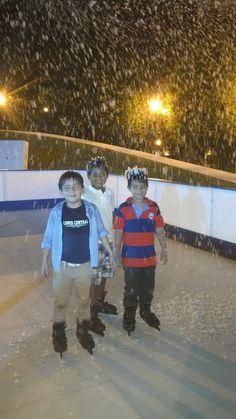 Disfrutando de nuestra pista y la nieve que tiene Costa Nouba