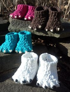 Baby Knitting Patterns Booties Crochet pattern quick and easy sweet from AmigurumiEmpire Yarn Projects, Knitting Projects, Crochet Projects, Knitting Patterns, Crochet Patterns, Crochet Ideas, Crochet For Kids, Cute Crochet, Crochet Crafts