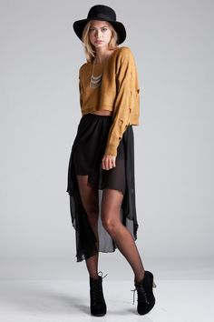 high low skirt- do it Boho Fashion, Autumn Fashion, Womens Fashion, Style Me, Cool Style, Bohemian Summer, High Low Skirt, Teen Vogue, Short Skirts