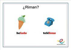 Fichas de lenguaje para primaria: ¿Qué rima con? Logos, Speech Pathology, Lyrics, Logo