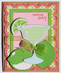 Cricut Birthday Card. Ole, Base Camp and Cherry Limeade Cartridges.  *