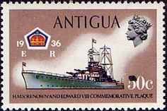 Antigua 1970 Ships and Captains H M S Renown Battle Cruiser Fine Mint                    SG 281 Scott 253    Other West Indies and British Commonwealth Stamps HERE!