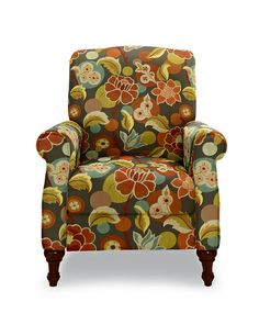 Charlotte High Leg Recliner by La-Z-Boy in Graffiti fabric. A contemporary chair for Kip Grey Recliner, Brown Leather Recliner, Leather Reclining Sectional, Sectional Sofa With Recliner, Leather Recliner Chair, Recliners, Reclining Sofa, Leather Sofa, Barber Chair Vintage