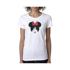 Minnie Mouse Shirt Disney Castle Shirt Minnie Mouse Castle Disney... (€15) ❤ liked on Polyvore featuring tops, t-shirts, red, women's clothing, red v neck t shirt, t shirts, red checked shirt, checked shirt and tee-shirt