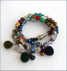 boho charms/pom pom woman bracelet Bracelet-Manchette Pandora Charms, Bracelets, Charmed, Boho, Woman, Etsy, Jewelry, Fashion, Stone Bracelet
