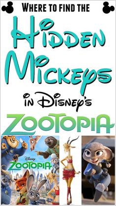 The Hidden Mickeys in Zootopia