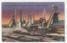 Sloss Sheffield Steel Mill Birmingham Alabama by ThePostcardDepot -enlarge it for framing???