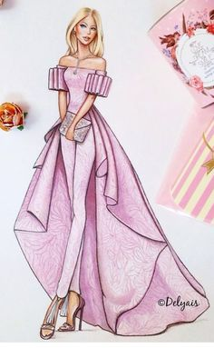 68 Ideas Fashion Drawing Ideas Sketches Dress Illustration - New Sites Dress Design Sketches, Fashion Design Drawings, Fashion Sketches, Dress Designs, Dress Illustration, Fashion Illustration Dresses, Fashion Illustrations, Jewelry Illustration, Fashion Sketchbook