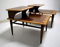 Lane Acclaim Mid Century Modern Step Table Set | Furnish Me Vintage