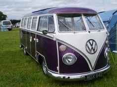 http://www.carhoots.com/blogool Purple/white VW Camper!