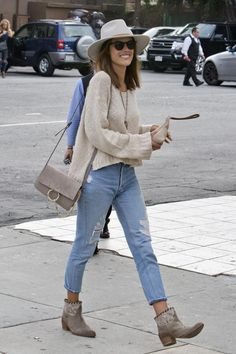 Alessandra Ambrosio wearing Zadig & Voltaire Midory Lace Boots, Ale by Alessandra Frangia Clutch and Chloe Faye Bag in Motty Grey
