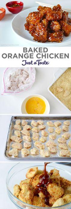 Baked Orange Chicken recipe from http://justataste.com #chicken #recipe